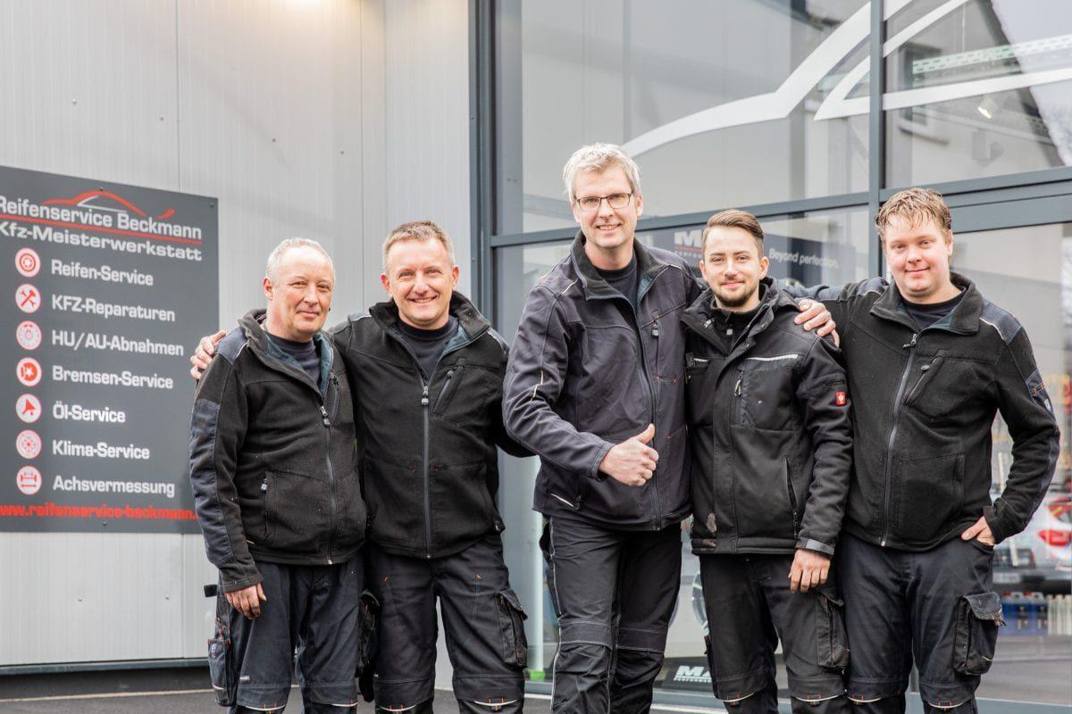 Das Team vom Reifenservice Beckmann
